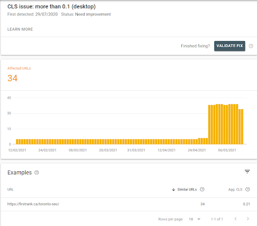 search console detail report